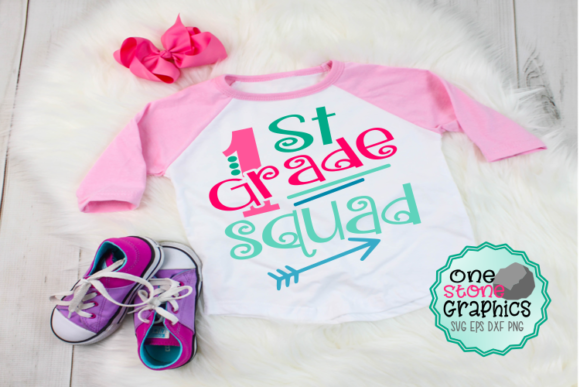 First Grade Squad Svg Graphic Crafts By OneStoneGraphics