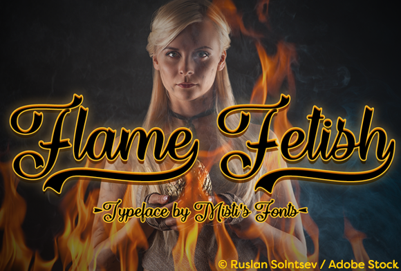 Print on Demand: Flame Fetish Script & Handwritten Font By Misti - Image 1