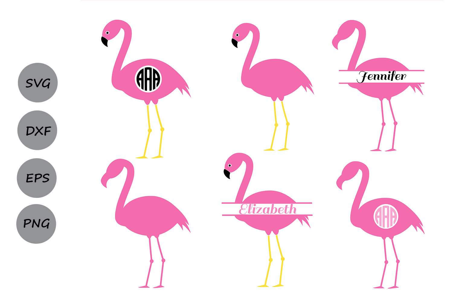 Download Free Flamingo Monogram Graphic By Cosmosfineart Creative Fabrica for Cricut Explore, Silhouette and other cutting machines.