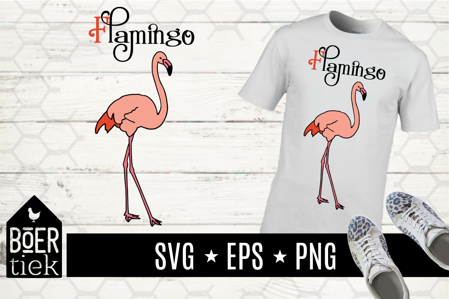 Download Free Flamingo Graphic By Boertiek Creative Fabrica for Cricut Explore, Silhouette and other cutting machines.