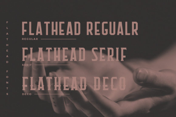 Print on Demand: Flathead Family Display Font By Headfonts - Image 5