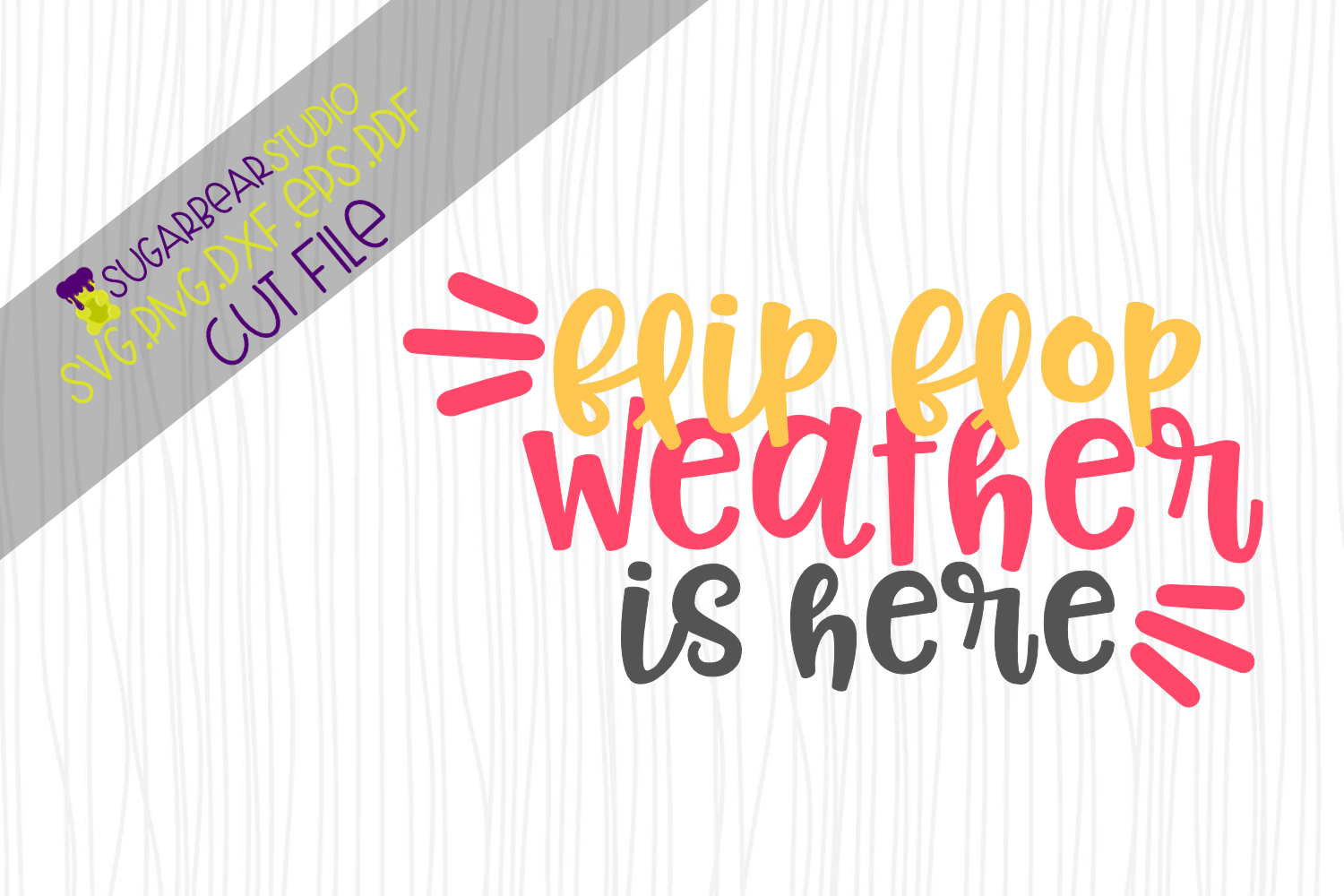 Download Free Flip Flop Weather Is Here Svg Grafico Por Sugarbearstudio for Cricut Explore, Silhouette and other cutting machines.