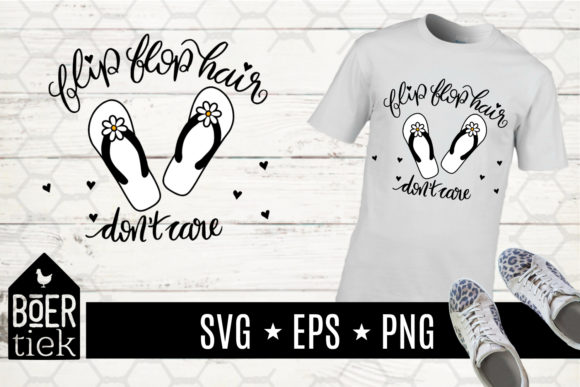 Download Free Flip Flop Hair Don T Care Beach File Graphic By Boertiek for Cricut Explore, Silhouette and other cutting machines.