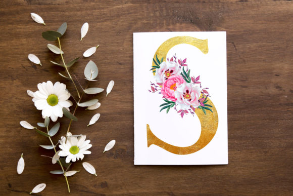 Floral Gold Alphabet Clipart Graphic Illustrations By LeCoqDesign - Image 2
