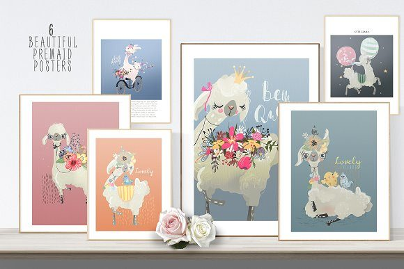 Floral Llamas Graphic By Anna Babich Image 3