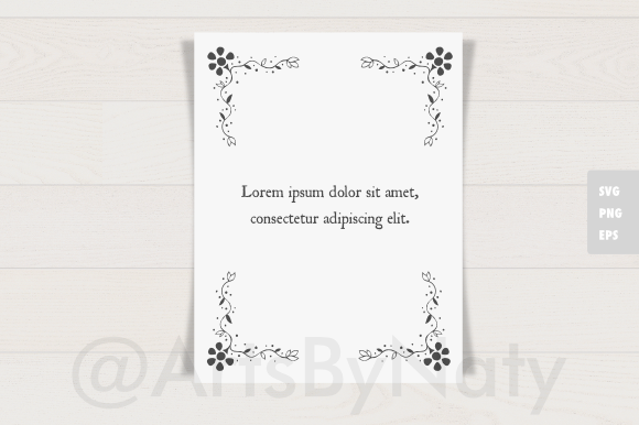 Print on Demand: Floral Romantic Corners Graphic Illustrations By artsbynaty - Image 3