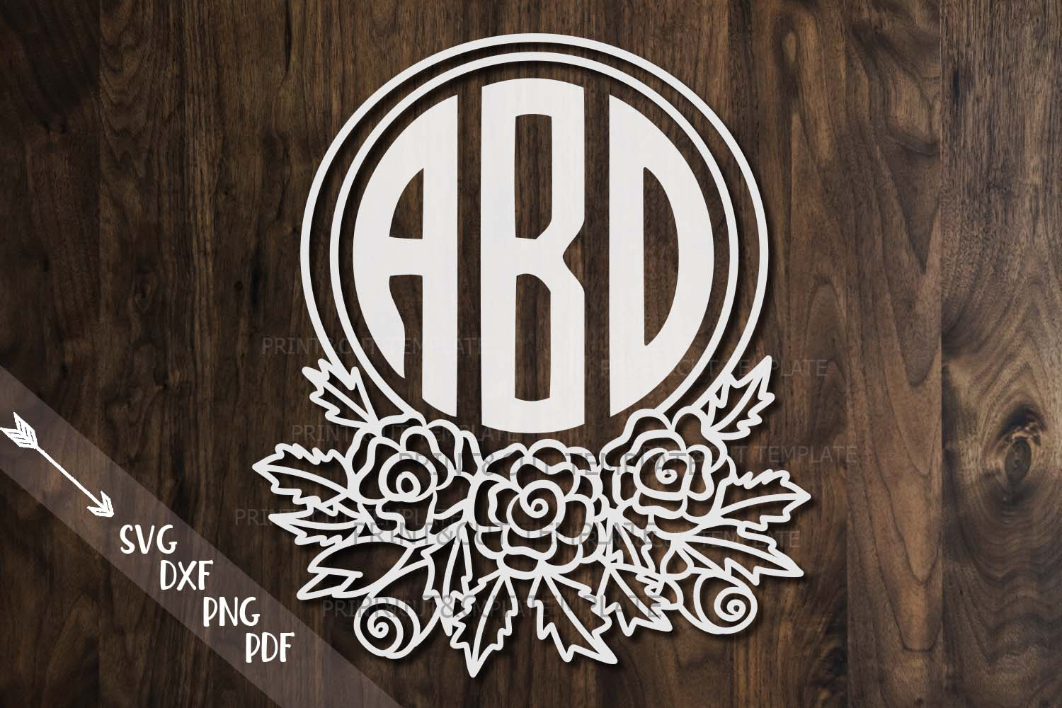 Download Free Floral Monogram Graphic By Cornelia Creative Fabrica for Cricut Explore, Silhouette and other cutting machines.