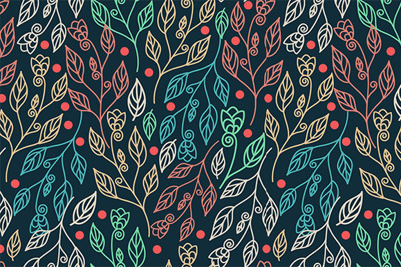 Print on Demand: Floral Seamless Pattern Graphic Patterns By Kotak Kuning Studio