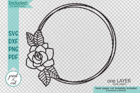 Download Free Floral Wreath Graphic By Cornelia Creative Fabrica SVG Cut Files