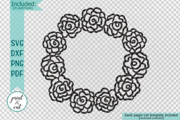 Download Free Floral Wreath Graphic By Cornelia Creative Fabrica for Cricut Explore, Silhouette and other cutting machines.