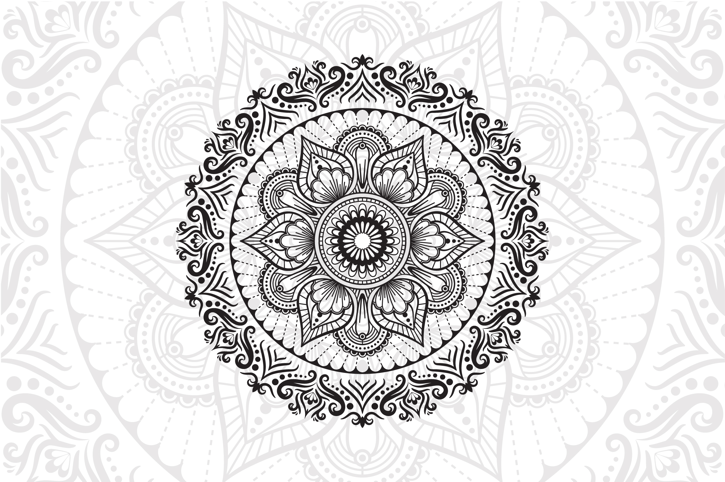 Download Free Flower Mandala Graphic By Izacuite Creative Fabrica for Cricut Explore, Silhouette and other cutting machines.