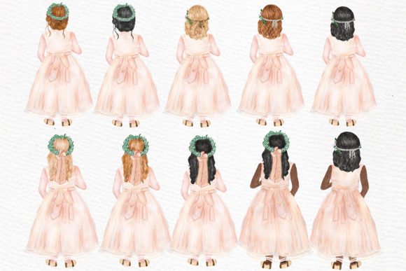 Download Free Flower Girl Clipart Wedding Clipart Graphic By Lecoqdesign for Cricut Explore, Silhouette and other cutting machines.