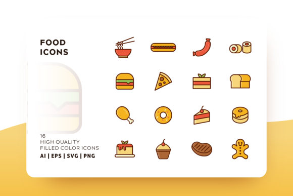 Food Filled Icon Pack Graphic Icons By Goodware.Std