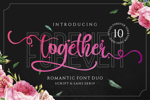 Print on Demand: Forever Together Duo Script & Handwritten Font By figuree studio