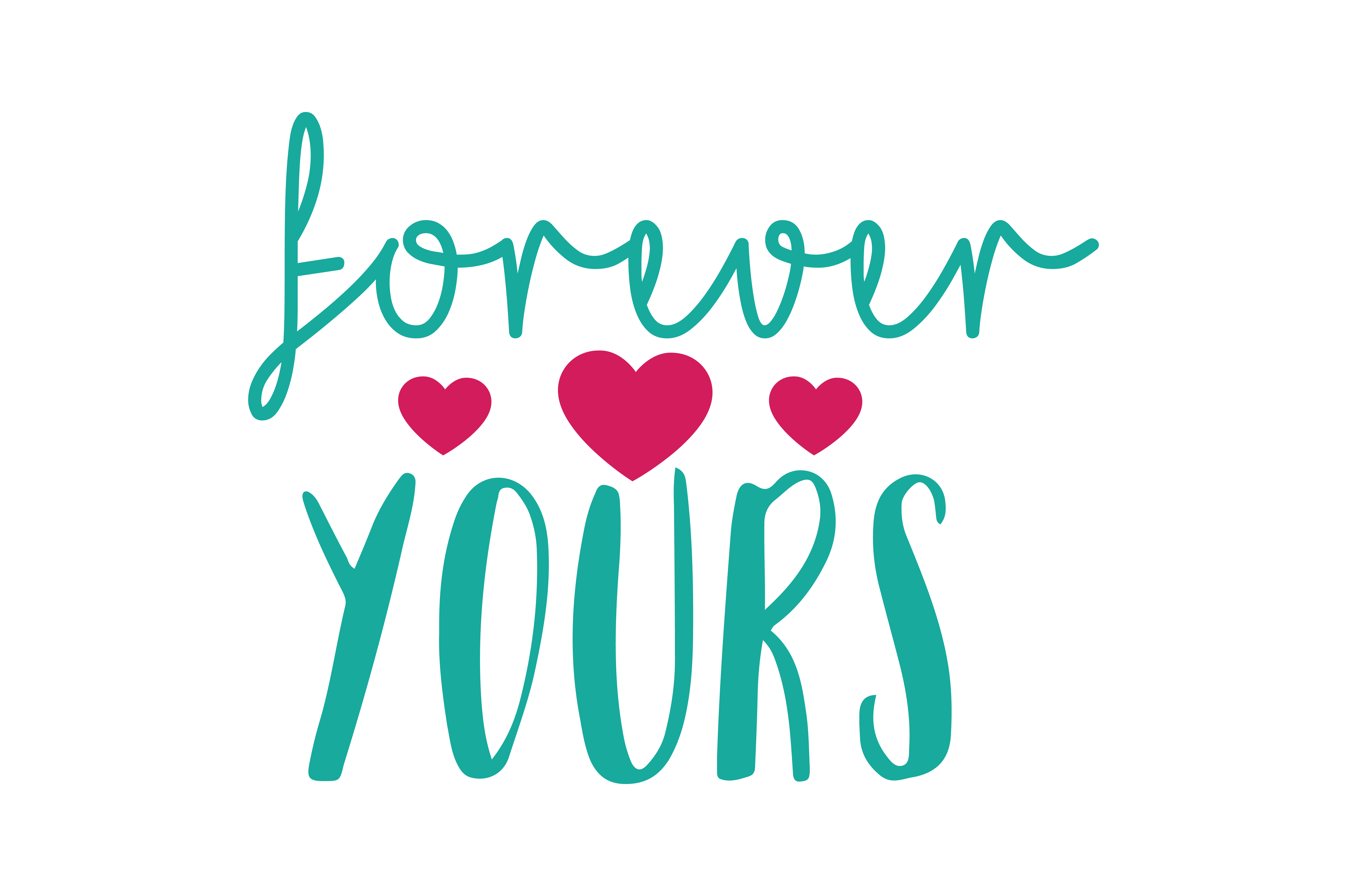 Download Free Forever Yours Quote Svg Cut Graphic By Thelucky Creative Fabrica for Cricut Explore, Silhouette and other cutting machines.
