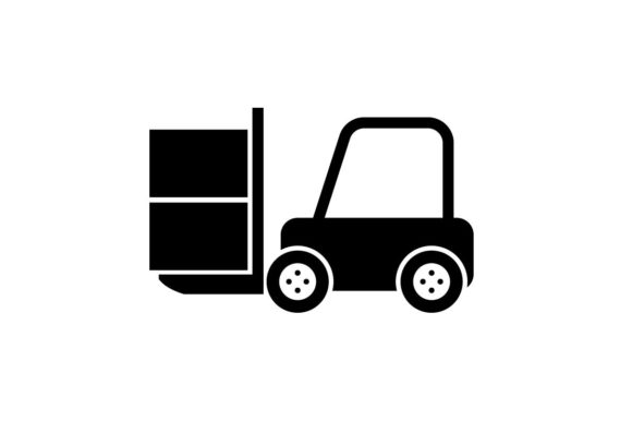 Download Free Forklift Icon Vector Graphic By Hoeda80 Creative Fabrica for Cricut Explore, Silhouette and other cutting machines.