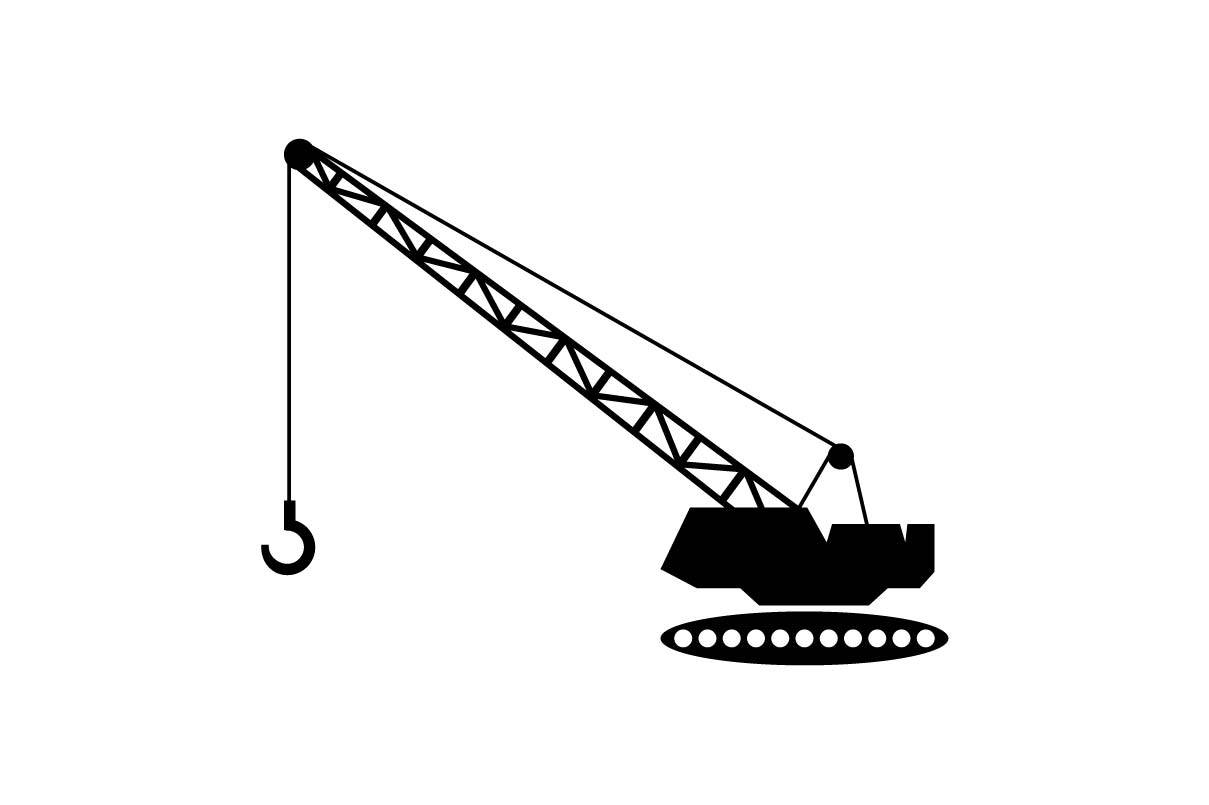 Download Free Forklift Monochrome Icon Eps 10 Vector Graphic By Hoeda80 for Cricut Explore, Silhouette and other cutting machines.