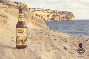 Print on Demand: Formentera Sandstone Beach | Beer Mockup Graphic Product Mockups By SmartDesigns