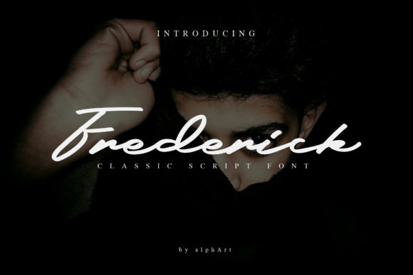 Print on Demand: Frederick Script Script & Handwritten Font By alphArt