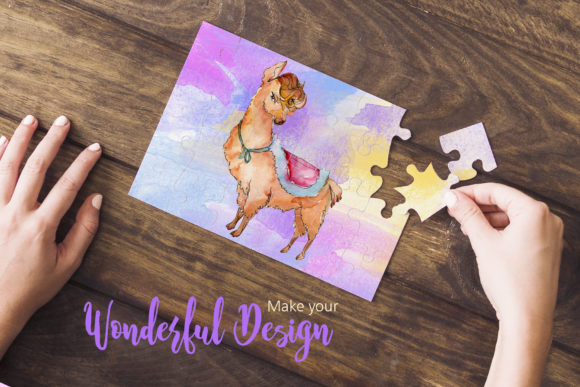 Download Free Funny Alpaca Watercolor Graphic By Mystocks Creative Fabrica for Cricut Explore, Silhouette and other cutting machines.