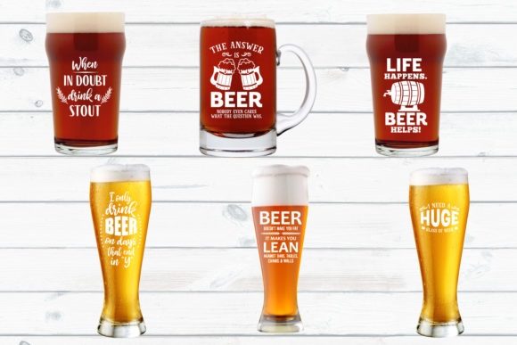 Funny Beer Quotes Bundle SVG