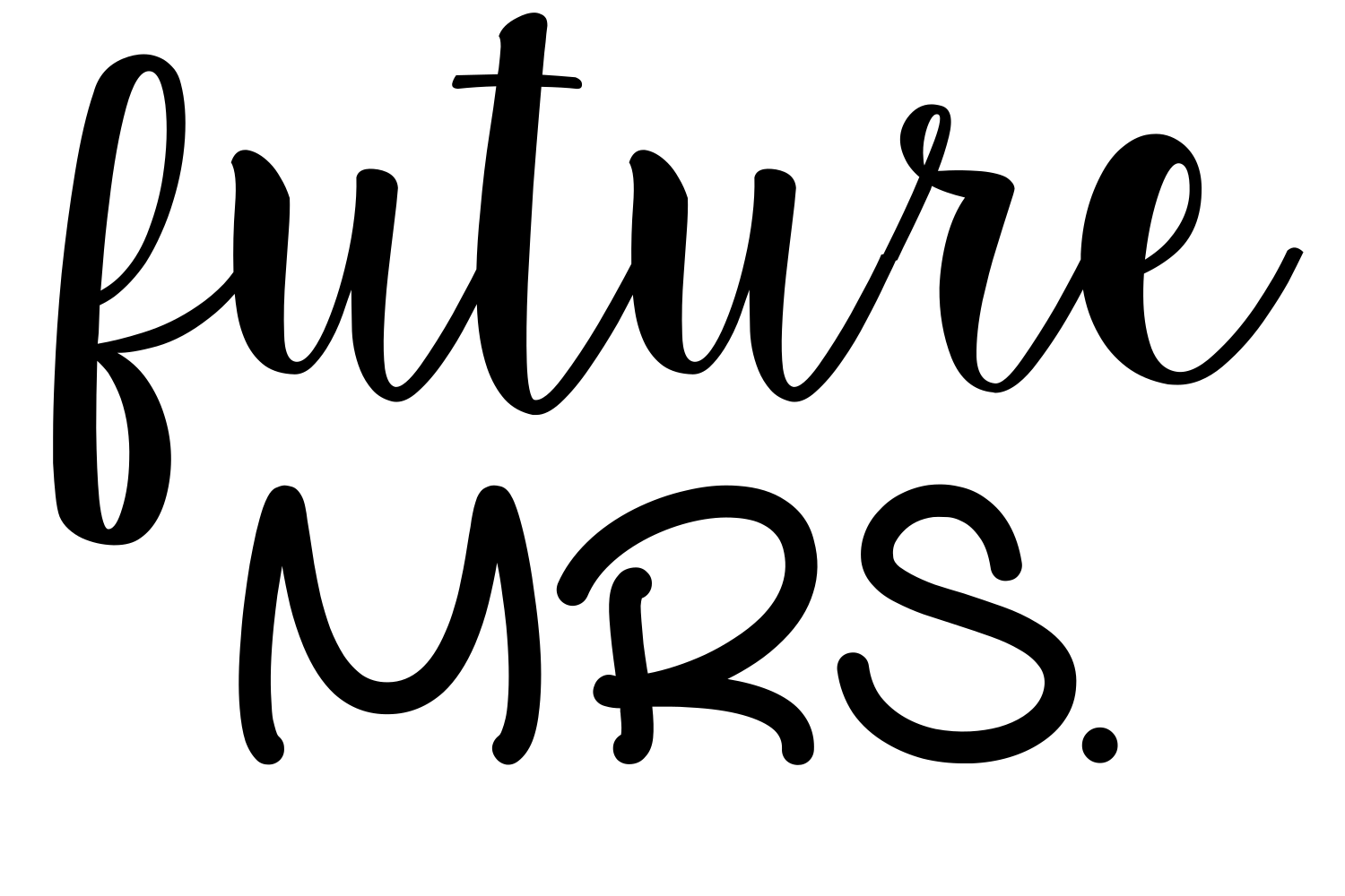 Download Free Future Mrs Digital Svg File Graphic By Auntie Inappropriate for Cricut Explore, Silhouette and other cutting machines.