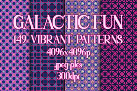 Galactic Fun - Vibrant Patterns Graphic Patterns By vessto
