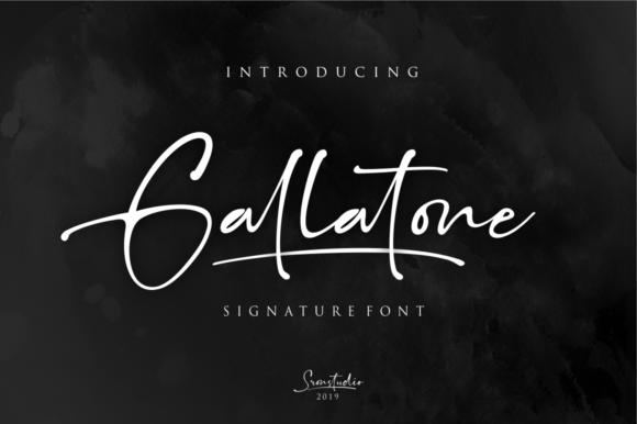 Print on Demand: Gallatone Script & Handwritten Font By Sronstudio