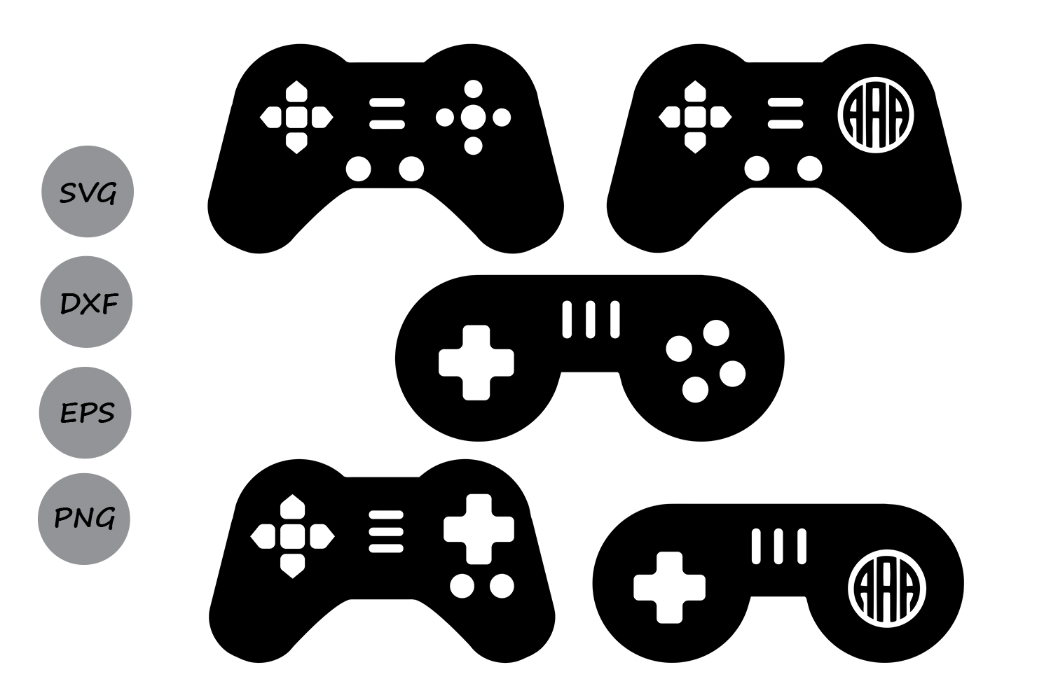 Download Free Game Controller Monogram Svg Graphic By Cosmosfineart Creative for Cricut Explore, Silhouette and other cutting machines.
