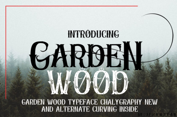 Download Free Garden Wood Font By Jehansyah251 Creative Fabrica for Cricut Explore, Silhouette and other cutting machines.