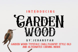Garden Wood Font By jehansyah251