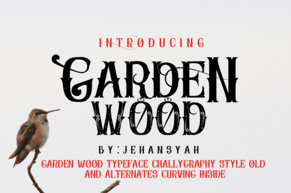 Print on Demand: Garden Wood Display Font By jehansyah251