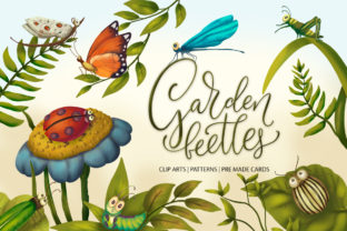 Print on Demand: Garden Beetles Graphic Collection Graphic Illustrations By Red Ink
