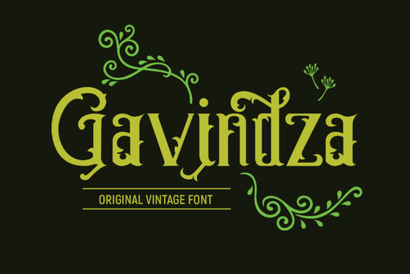 Print on Demand: Gavindza Display Font By gumacreative