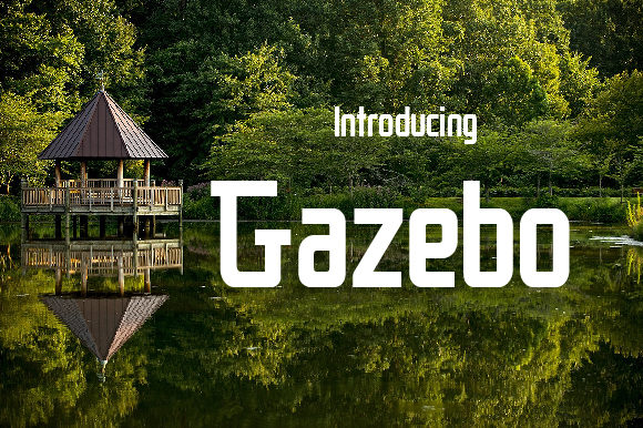 Print on Demand: Gazebo Display Font By da_only_aan