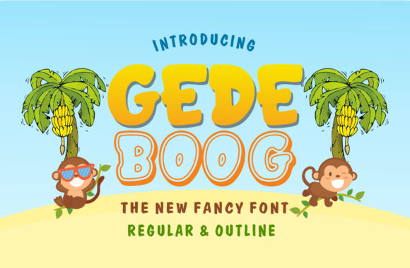 Print on Demand: Gedeboog Display Font By fachranheit
