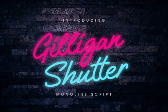 Print on Demand: Gilligan Shutter Script & Handwritten Font By CreatypeStudio