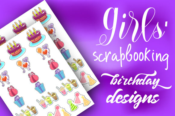 Girls' Scrapbooking Birthday Designs Craft Design By Creative Fabrica Crafts Image 1