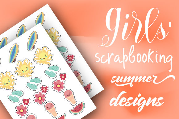Girls' Scrapbooking Summer Designs Planner Craft Cut File By Creative Fabrica Crafts