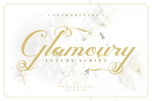 Print on Demand: Glamoury Script & Handwritten Font By putracetol