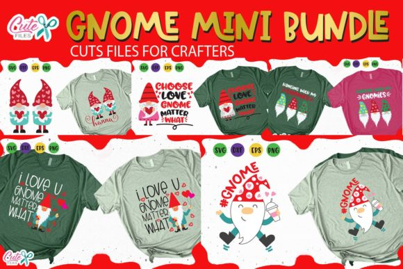Gnomes Mini Bundle Graphic Illustrations By Cute files