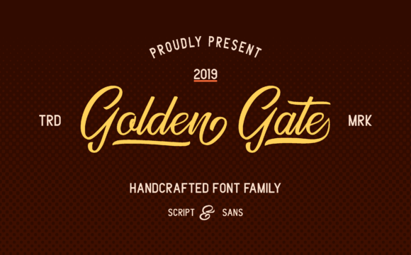 Print on Demand: Golden Gate Duo Script & Handwritten Font By Adriansyah