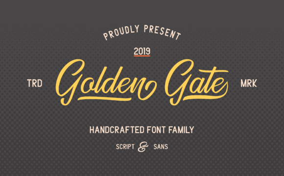 Golden Gate Duo Font By Adriansyah Image 8