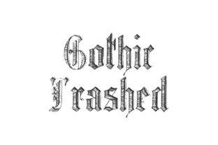 Download Free Gothic Trashed Font By Intellecta Design Creative Fabrica for Cricut Explore, Silhouette and other cutting machines.