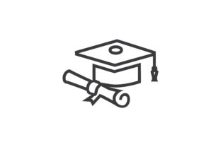 Download Free Graduate Cap Icons Graphic By Zafreeloicon Creative Fabrica for Cricut Explore, Silhouette and other cutting machines.