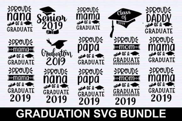 Print on Demand: Graduation Family Bundle Graphic Illustrations By svgbundle.net