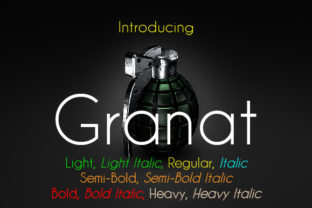 Granat Family Font By da_only_aan