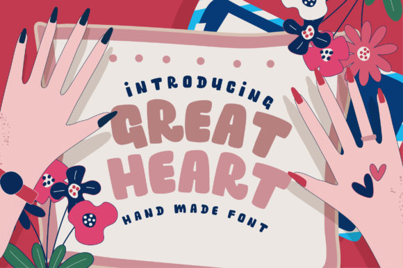 Print on Demand: Great Heart Display Font By Caoca Studios