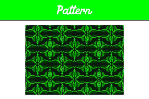 Print on Demand: Green Background Ornament Pattern Graphic Patterns By Arief Sapta Adjie II