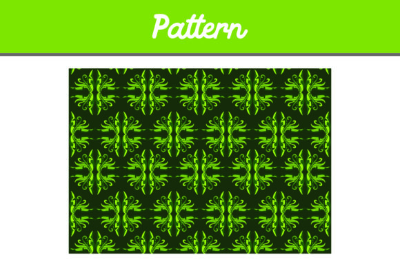 Green Background Ornament Pattern